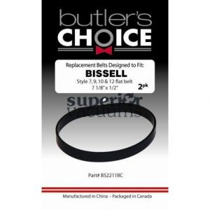 Bissell Belt Flat, 2 Pack Bissell Style 7, 9, 10, 12, 14, 16