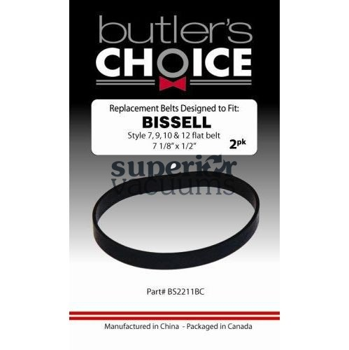 745 Bissell Belt Flat 2 Pack Style 7 9 10 12