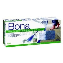 Bona 15 Inch 4 Piece Stone, Tile and Laminate Floor Care Mop