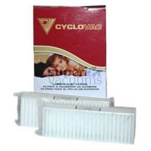 Cyclo Vac Filter, 2 Pk Cyclo Vac He Exhaust Filter Carbon Oem