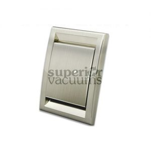 Cyclo Vac Inlet Valve, Square Door Brushed Nickel Deco