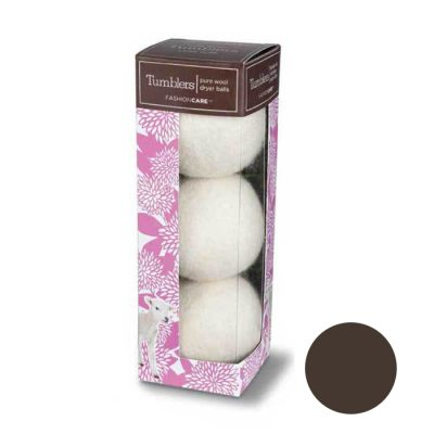 Forever New Pure Wool Tumblers Dryer Balls - Brown 3 Pk