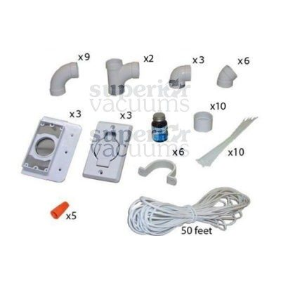 3 Inlet Kit, With Round Door Inlet White