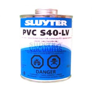 Central Vacuums Glue, Pvc125 Ml Pvc-S40 (Clear) Lv (Low Voc) With Dauber