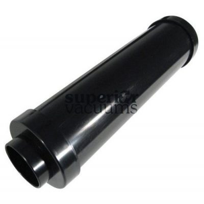 Central Vacuums Muffler, Exhaust Round Black