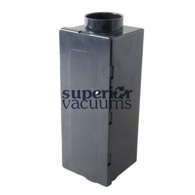 Central Vacuums Muffler, Exhaust Rectangular Vaculine Abs Black