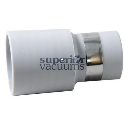 "Central Vacuums Inlet Cuff, 1 3/8"" Banded Short Nose Grey"