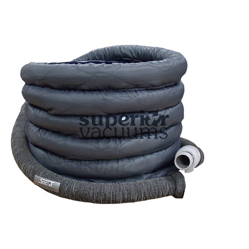 Central Vacuums Hose Cover, 30' Hybrid Knit/Padded Zipper Sock Charcoal