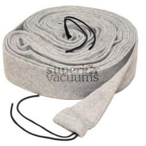 Central Vacuums Hose Cover, 35' Vac Soc Knitted With Tube Grey