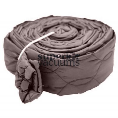 Central Vacuums Hose Cover, 30' Zippered Padded Solid Brown