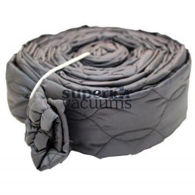 Central Vacuums Hose Cover, 30' Zippered Padded Solid Grey