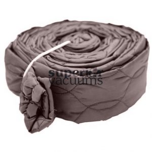 Central Vacuums Hose Cover, 35' Zippered Padded Solid Brown
