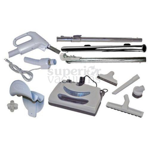 Central Vacuums Kit, Butlers Power Nozzle & 35 Ft Hose Corded