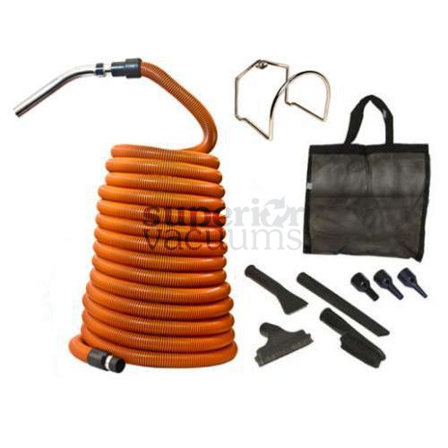 Central Vacuums Kit, Car Care Deluxe 50' Hose Orange