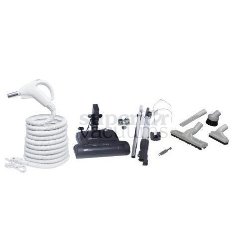 Central Vacuums Kit, Butlers Deluxe Power Nozzle & 30 Ft Hose Deluxe