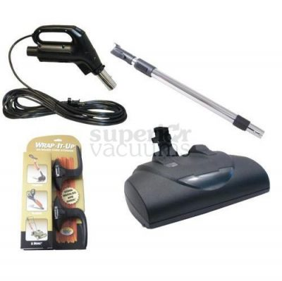 Central Vacuums Kit, Retractable Electric Wessel Ebk360 Power Nozzle