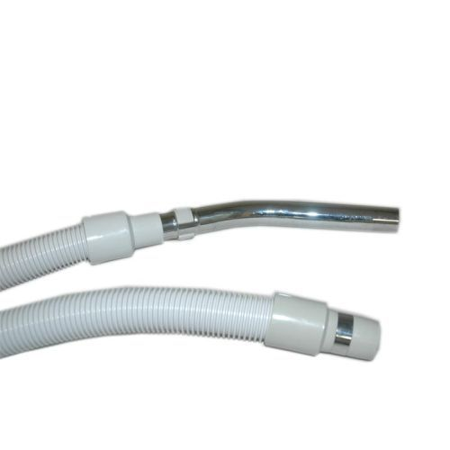 "Plastiflex Built-in & Central Vacuum Hose, 1 3/8"" X 35' Button Lock - Grey"