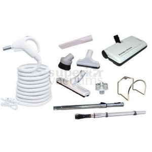 Eureka Kit, Sweep+Groom Power Nozzle & 30 Ft Hose Grey