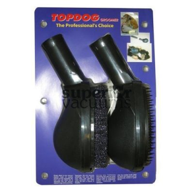 "Fitall Pet Groomer, 1 1/4"" Large 2Pk (Brush & Pin Tools) - Black"