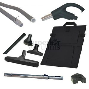 Hide-A-Hose Kit, 50' Hide A Hose With Sock, Handle & Attachments