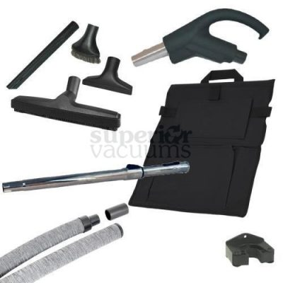 Hide-A-Hose Kit, 60' Mini Cuff Retractable Hose, Sock, Handle & Attachments