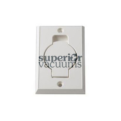 Hayden Built-in & Central Vacuum Inlet Valve, Round Door Lighter Almond