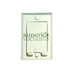 Hayden Built-in & Central Vacuum Inlet Valve, Square Door Lighter Almond