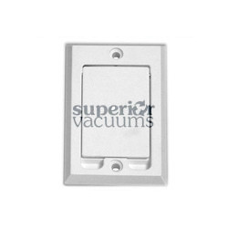 Hayden Built-in & Central Vacuum Inlet Valve, Square Door White