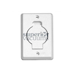 Central Vacuums Inlet Valve, Round Door White Plastiflex