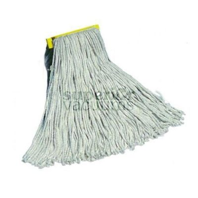 Janitorial Supplies Mop Head, 12 Oz 70% Cotton White