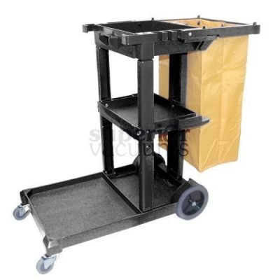 "Janitorial Supplies Cart Janitorial 44"" X 20"" 38"" Black"