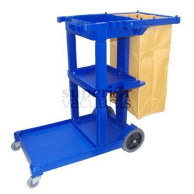 "Janitorial Supplies Cart Janitorial 44"" X 20"" 38"" Blue"