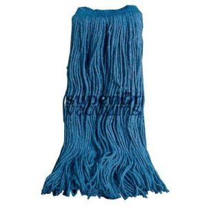 Janitorial Supplies Mop Head, 16Oz For Wet Mopping - Blue