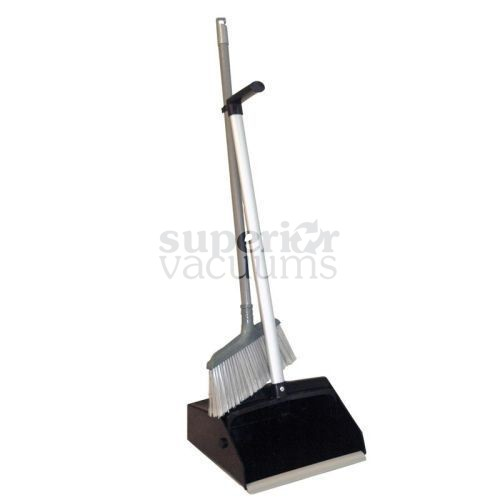 Janitorial Supplies Dustpan With Long Handle & Clip On Broom, (4 Pcs)