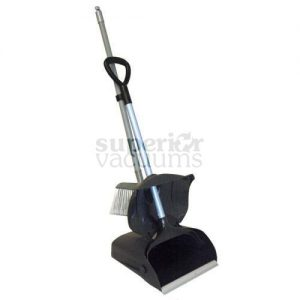 Janitorial Supplies Dustpan With Handle & Cover Black, (4 Pcs)