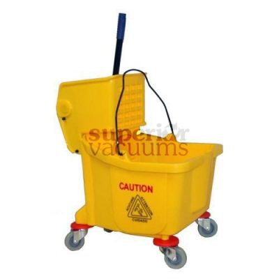 Janitorial Supplies Bucket, 36L With Side Press Wringer Yellow