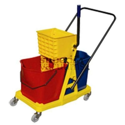 Janitorial Supplies Bucket, 46L With Double Wringer Side Press
