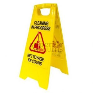 Janitorial Supplies Sign, Cleaning In Progress