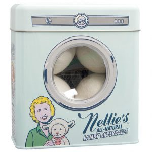 Nellie's Wool Dryer ball Tin, 4 Pack