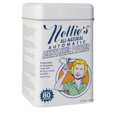 Nellie's Automatic Dishwasher Powder, 80 Load Tin