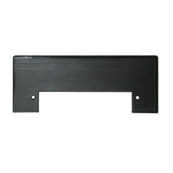 Plastiflex Built-in & Central Vacuum Trim Plate, Vacpan Black