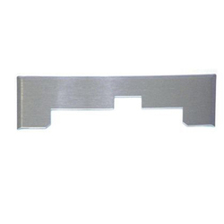 Plastiflex Built-in & Central Vacuum Trim Plate, Vacpan Stainless Steel