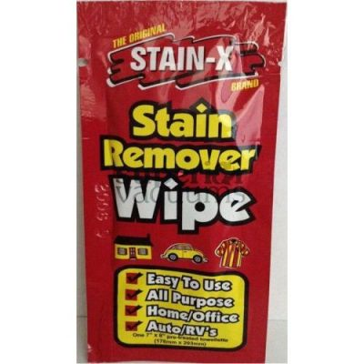 Stain-X Cleaner, 1 Pk Stain-X Single Use Wipe