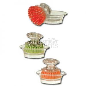 Mini Brush Scrubber With Holder
