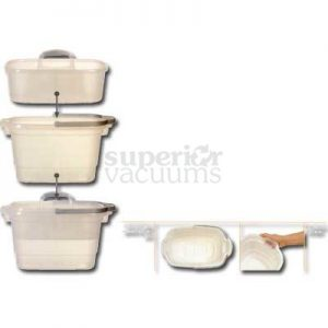 4 Gallon Rectangular Bucket, Holds Caddy Translucent With Silver Handle