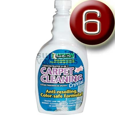 Hydroxi Pro Carpet Cleaning Crystal 32Oz. 6 In 1 Cleaner Case Of 6