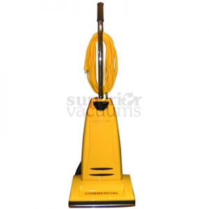 Pro Commercial Yellow Upright Vacuum Cpu2 1Yr Warranty 10 Amp 40' Cord Metal Baseplate Metal Handle New Style Body 72Db 20Lb