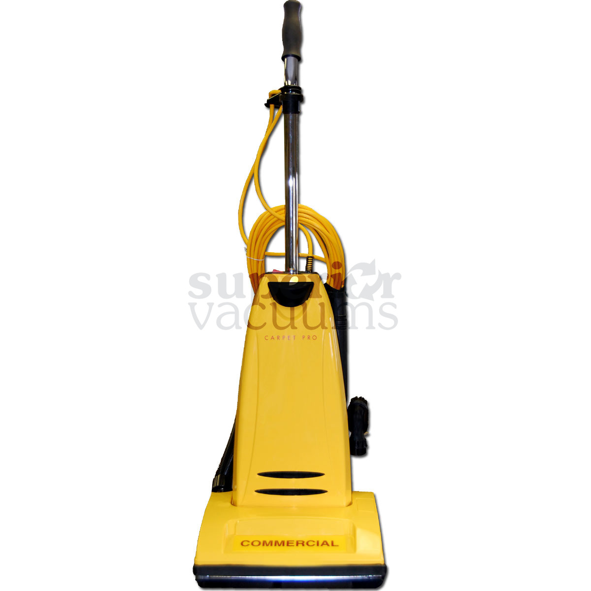 Pro Model Cpu2T Commercial Upright Vacuum With Onboard Tools Metal Handle And Bottom Plate 1 Yr Warranty 10 Amp 40' Cord 72Db 20Lb