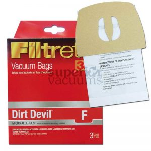 Dirt Devil Paper Bag Microlined Type F 3 Pack 3M 2155 082123