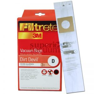 Dirt Devil Paper Bag Microlined Type D Dirt Devil Upright D 3 Pack Sensation Featherlite 3M